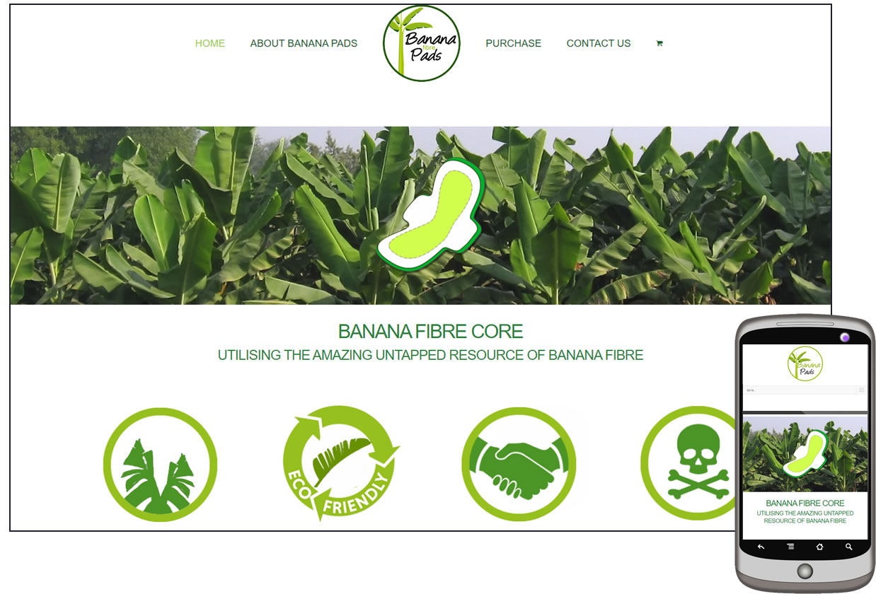 Banana Pads Website Design by Dynamic Dolphin Designs